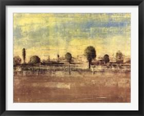 Framed Toscano Landscape