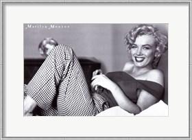 Framed Marilyn Monroe - Pajamas