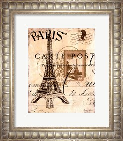 Framed Paris Collage I