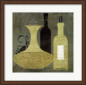 Framed Wine to Live by I - special