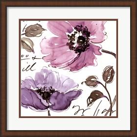 Framed Floral Waltz Plum I