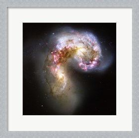 Framed Antennae Galaxies in Collision