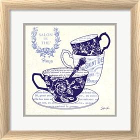 Framed Blue Cups IV