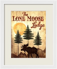 Framed Lone Moose