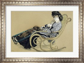 Framed Young Woman in a Rocking Chair, study for the The Last Evening
