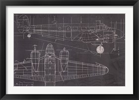 Framed Plane Blueprint I
