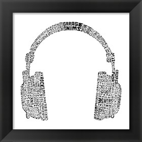 Framed Headphones (Music Genres)