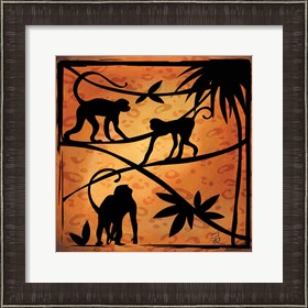 Framed Safari Silhouette II