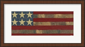 Framed Patriotic Printer Block Panel I