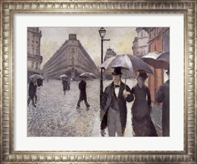 Framed Paris, A Rainy Day, 1877