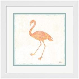 Framed Flamingo Tropicale VI