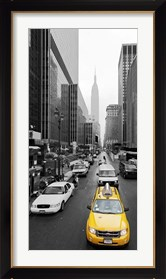 Framed Taxi in Manhattan, NYC