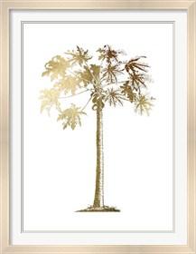 Framed Gold Foil Tropical Palm I- Metallic Foil