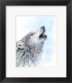 Framed Howling Wolf