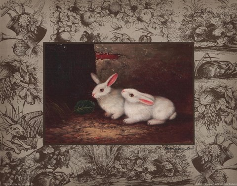 Framed Bunny on Toil 4 Print