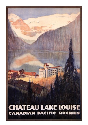 Framed Canadian Pacific-Lake Louise Print