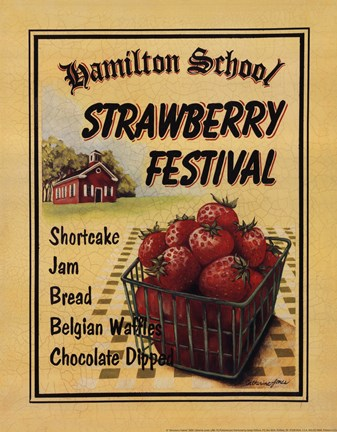 Framed Strawberry Festival Print