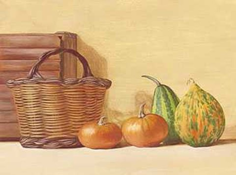 Framed Basket of Vegetables 2 Print