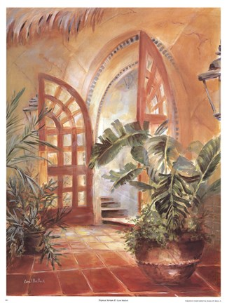 Framed Tropical Atrium II Print