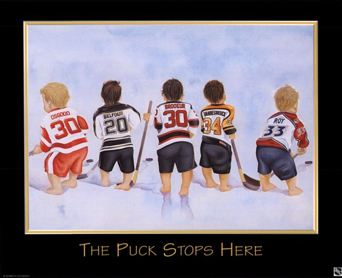 Framed Puck Stops Here Print