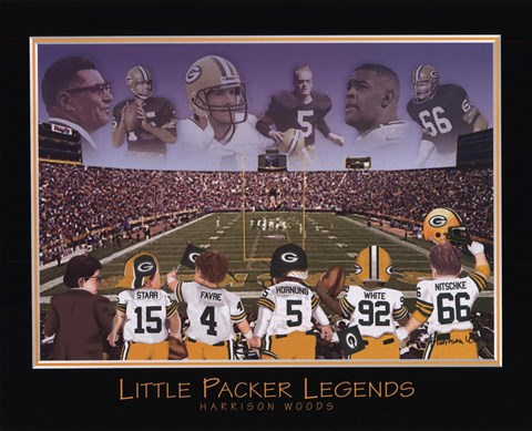 Framed Little Packer Legends Print