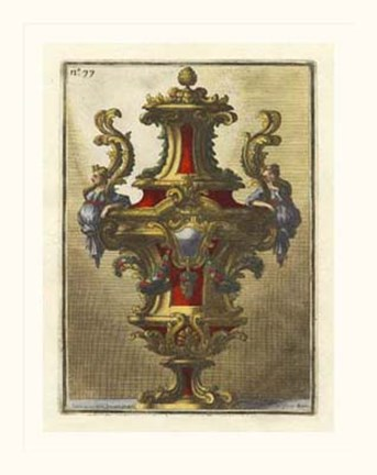 Framed Decorative Urn, PL 77 Print
