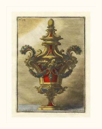 Framed Decorative Urn, PL 78 Print