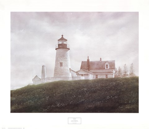 Framed Fog at Pemaquid Print