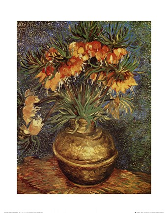 fritillaires dans un vase de cuivre painting by vincent van gogh at. Black Bedroom Furniture Sets. Home Design Ideas