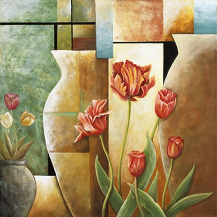 Framed Contempo Tulips IV Print