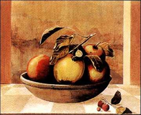 Framed Tuscan Fruit Bowl I Print
