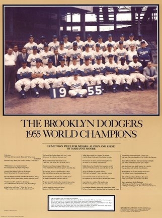 Framed Brooklyn Dodgers, 1955 Print