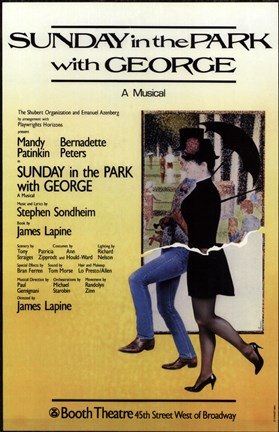 Sunday In The Park With George Broadway Poster By Unknown