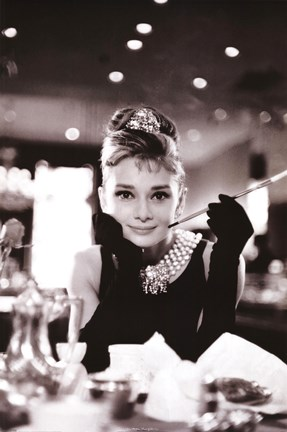 Framed Audrey Hepburn-Breakfast at Tiffany's Print