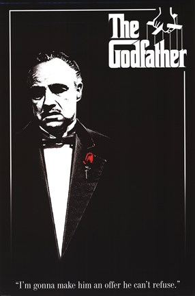 Framed Godfather - Red Rose Print