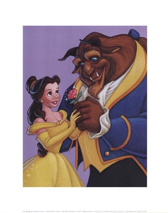 Framed Belle and the Beast - A Romantic Gift Print