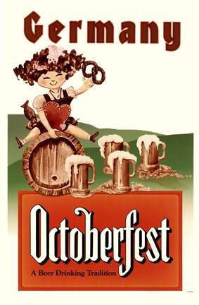 Framed Octoberfest Travel Poster Print
