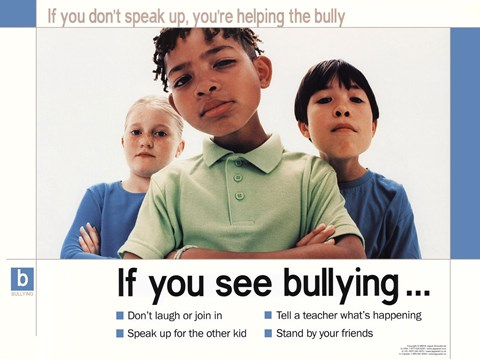 Framed If You See Bullying Print