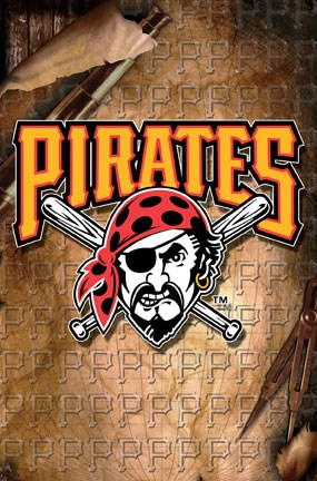 Framed Pirates-Logo Print