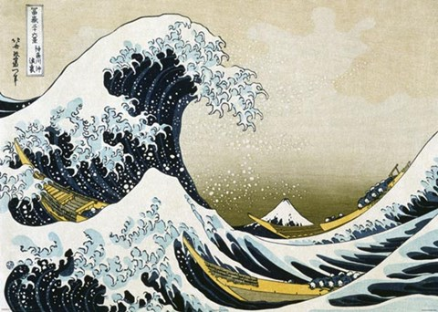 Framed Great Wave off Kanagawa, c.1830 Print
