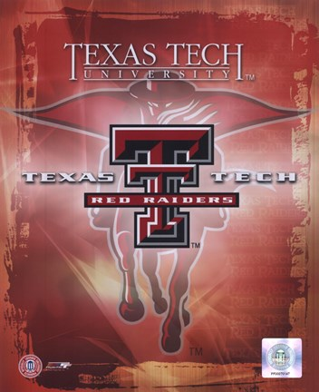 Framed Texas Tech University  Logo Print