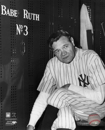 Babe Ruth - Farewell Game / Locker Room
