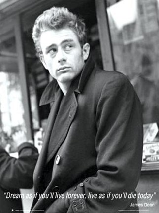 Framed James Dean - Dream As You Live (Mural) Print