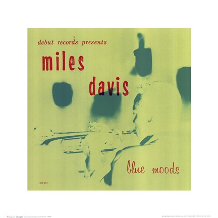 Framed Miles Davis - Blue Mood Print