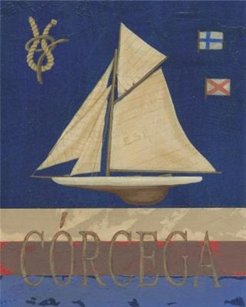 Framed Corcega Sailboat Print