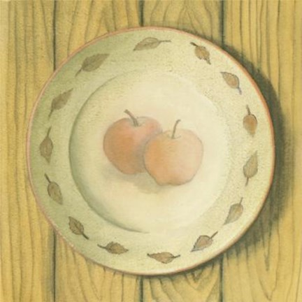 Framed Plate With Apples Print