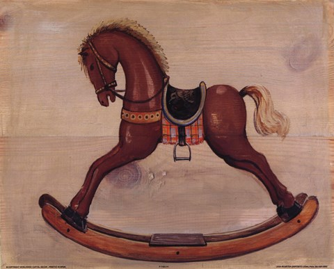 Framed Brown Rocking Horse Print