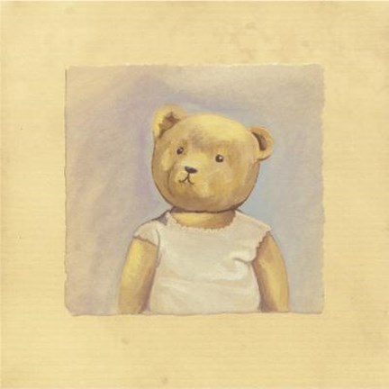 Framed Bear With Tan Shirt Print