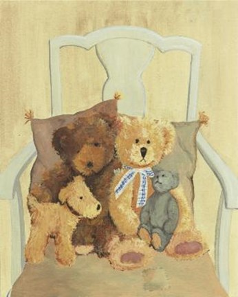 Framed Bears Dog In Chair Print
