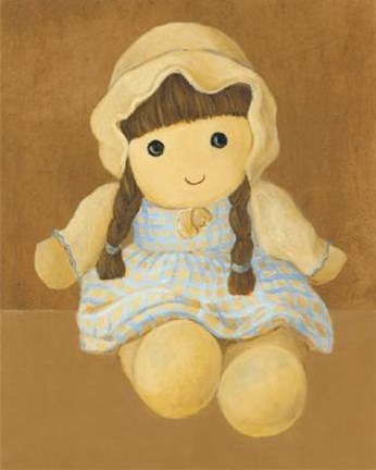 Framed Doll With Brown Hair Braids Print